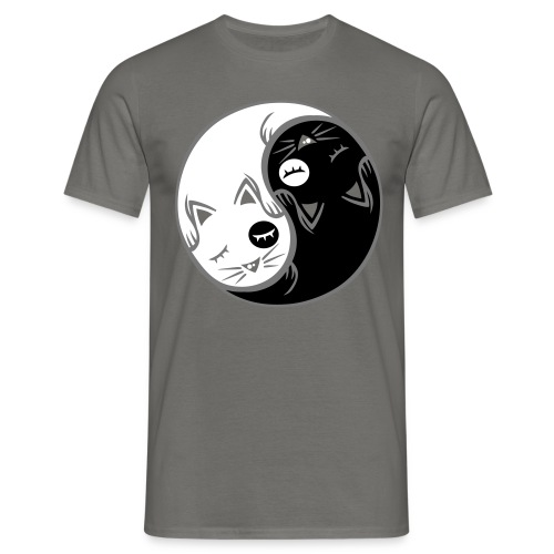 Yin yang cat - Men's T-Shirt