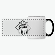 Mug Super papa - cadeau blanc/noir par Tshirt Family