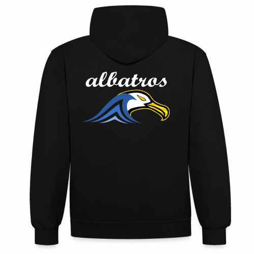 Sweat Jean albatros - Sweat-shirt contraste