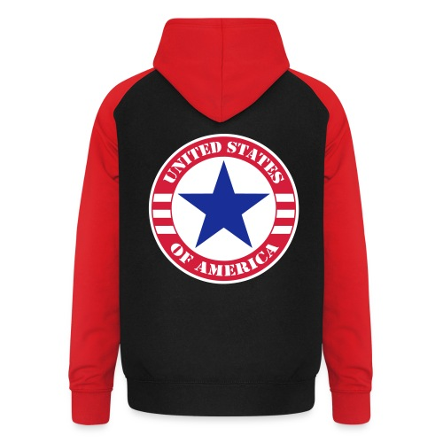 USA Star - Sweat-shirt baseball unisexe
