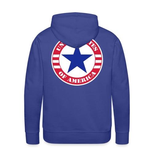 USA Star - Sweat-shirt à capuche Premium pour hommes
