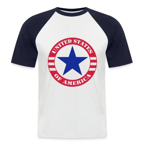 USA Star - T-shirt baseball manches courtes Homme