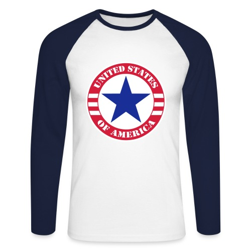 USA Star - T-shirt baseball manches longues Homme