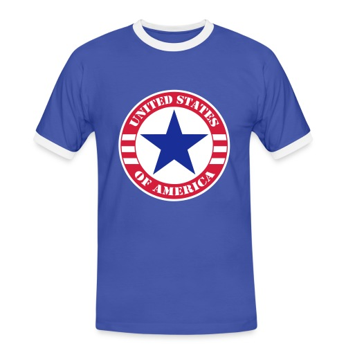 USA Star - T-shirt contrasté Homme