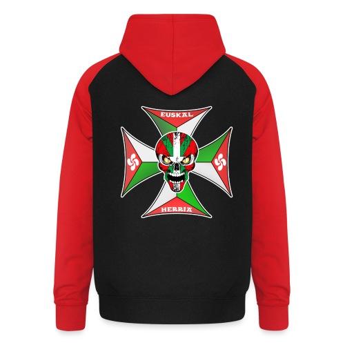 Euskal Herria cross - Sweat-shirt baseball unisexe