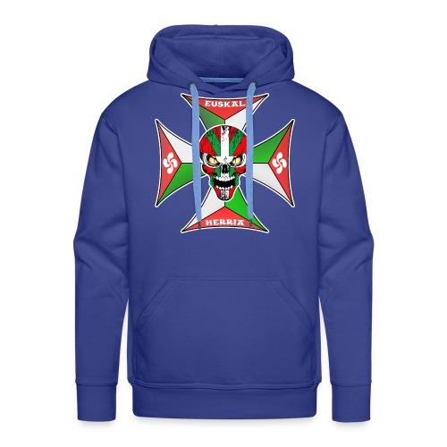Euskal Herria cross - Sweat-shirt à capuche Premium pour hommes
