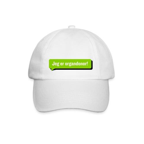 Jeg er organdonor caps - Baseballcap