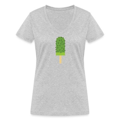 Cactus vrouwen v-hals bio - Vrouwen bio T-shirt met V-hals van Stanley & Stella