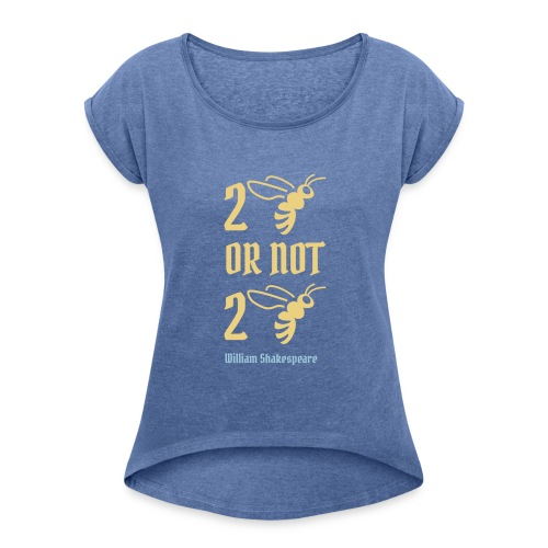 2 bee - Frauen T-Shirt mit gerollten Ärmeln