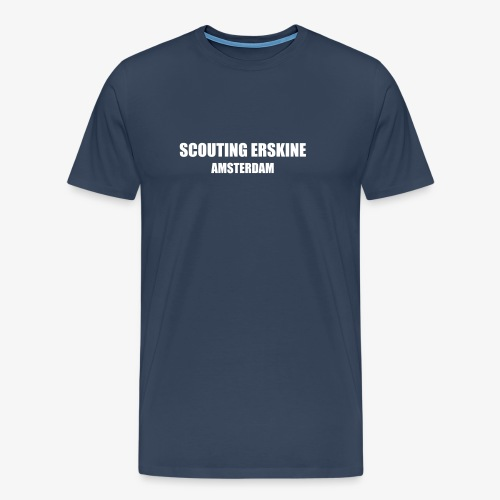 Scouting Erskine - Navy T-shirt (v) - Mannen Premium T-shirt