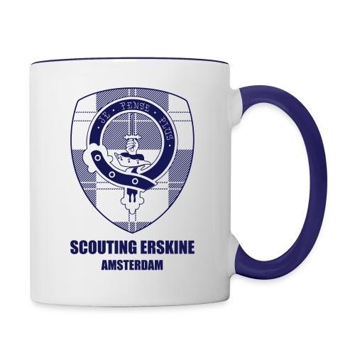 Mok Scouting Erskine alleen logo - Mok tweekleurig