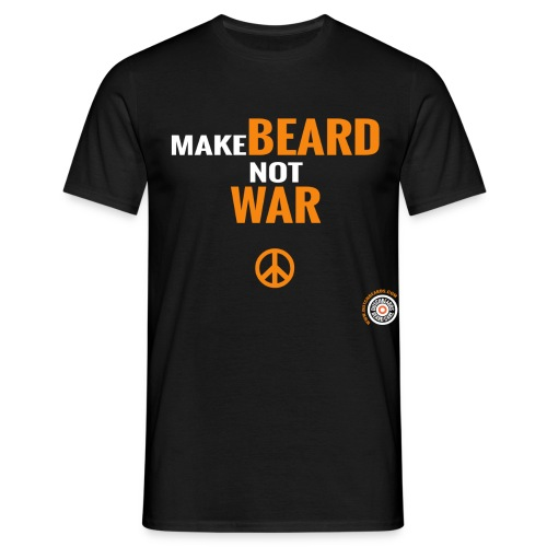Make beard not war - Mannen T-shirt