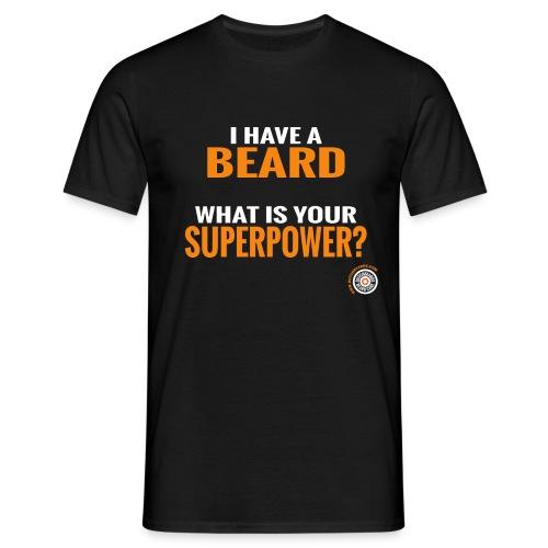 Beard Superpower - Mannen T-shirt