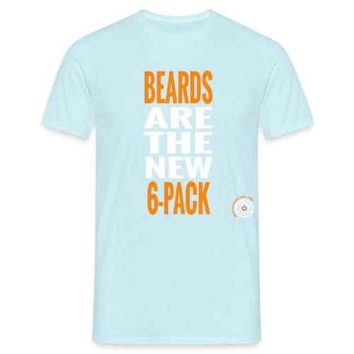 Bearded six pack - Mannen T-shirt