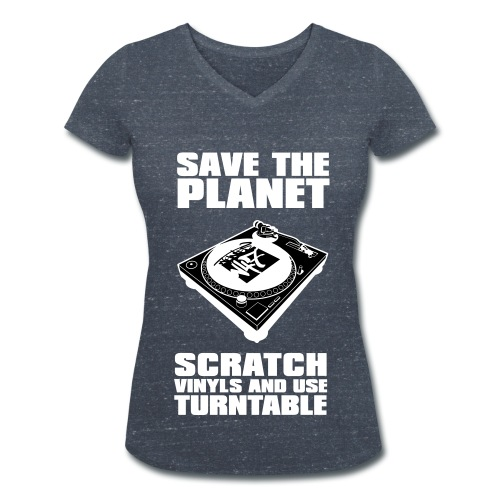 T-Shirt femme Scratch vinyl - T-shirt bio col V Stanley & Stella Femme