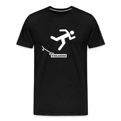 T-shirt Premium Falling skateboarder - Men's Premium T-Shirt