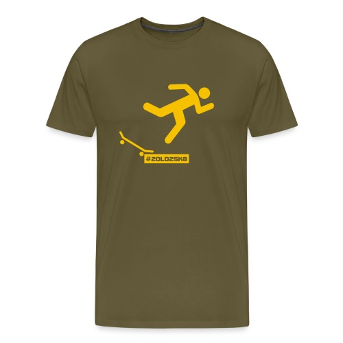 T-shirt Premium Falling skateboarder Yellow - Men's Premium T-Shirt