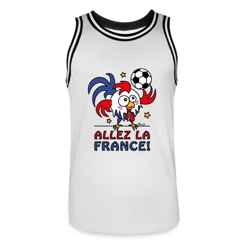 Maillot basket Homme, Coq Gaulois, Allez la France - Maillot de basket Homme