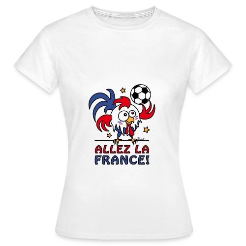 T-shirt Femme, Coq Gaulois, Allez la France - T-shirt Femme
