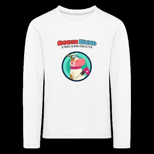 Barnens långärmad Robin Hund skjorta - Lasten premium pitkähihainen t-paita