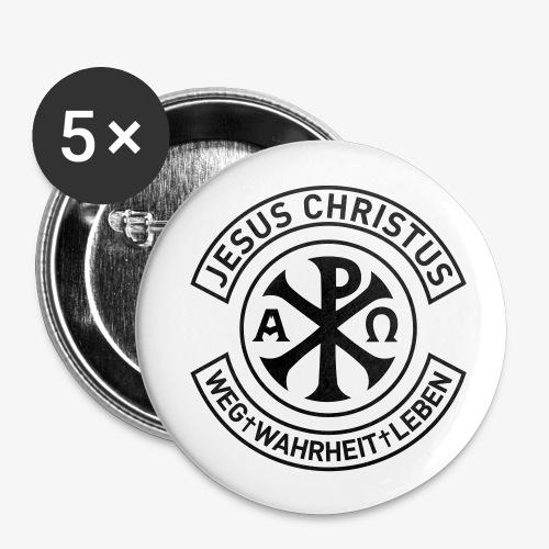 5-er Pack Buttons JESUS BIKER - Buttons mittel 32 mm
