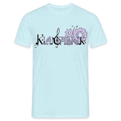 T-Shirt Klangfabrik (Logo Lavendel-Schwarz) - Männer T-Shirt