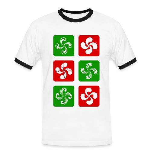 Croix Basques - T-shirt contrasté Homme