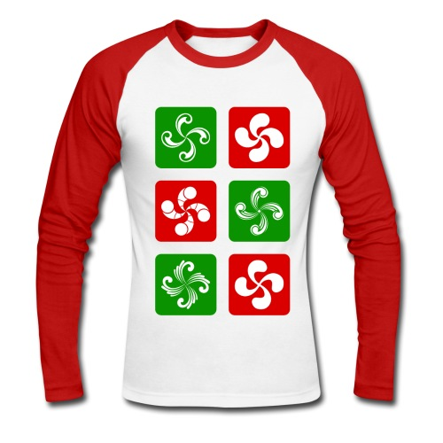 Croix Basques - T-shirt baseball manches longues Homme