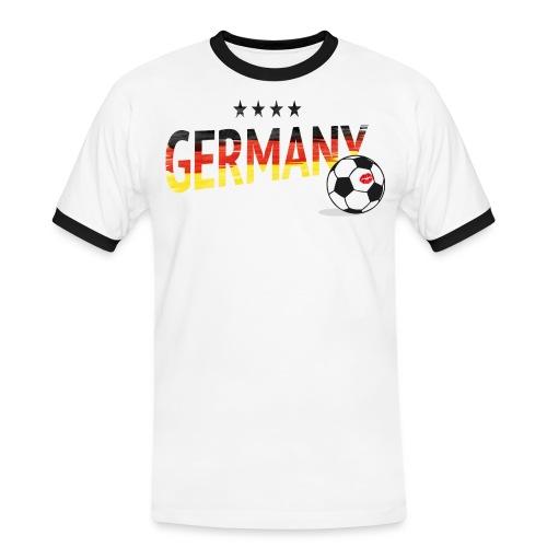 Fußball Fanshirt Deutschland - Männer Kontrast-T-Shirt