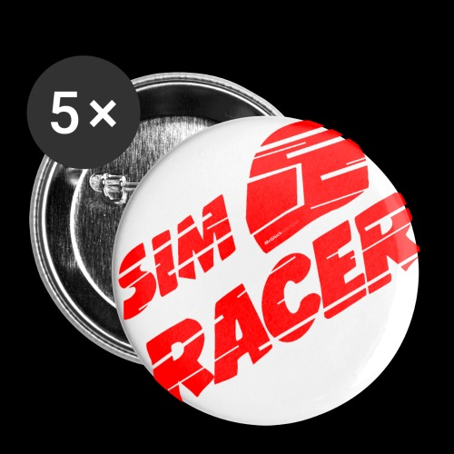 Anstecker -simracer- - Buttons groß 56 mm (5er Pack)