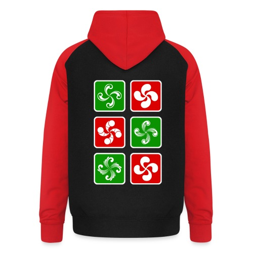 Croix Basques - Sweat-shirt baseball unisexe