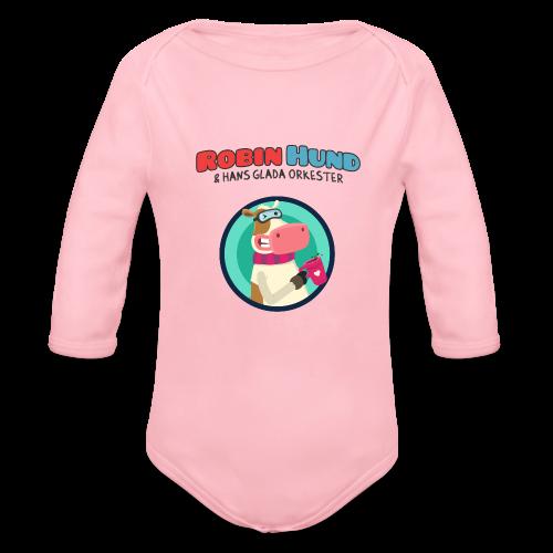 Långärmad Robin Hund babybody - Vauvan pitkähihainen luomu-body