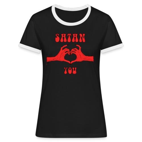 Satan Loves You - T-shirt contrasté Femme