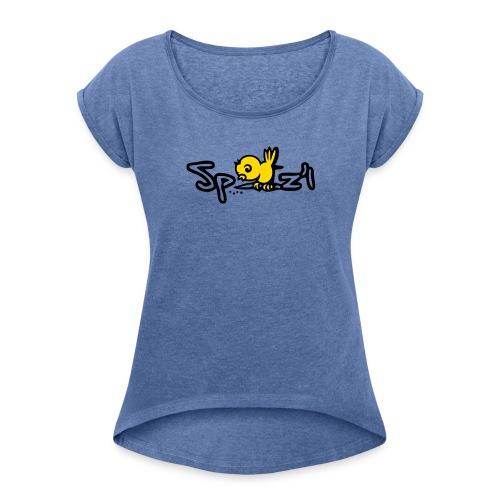 Spatzl - Frauen T-Shirt mit gerollten Ärmeln
