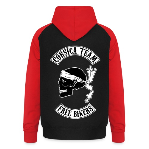 Corsica skull team - Sweat-shirt baseball unisexe