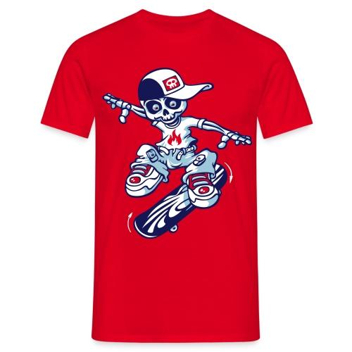 Skeleton and skate flex - Männer T-Shirt
