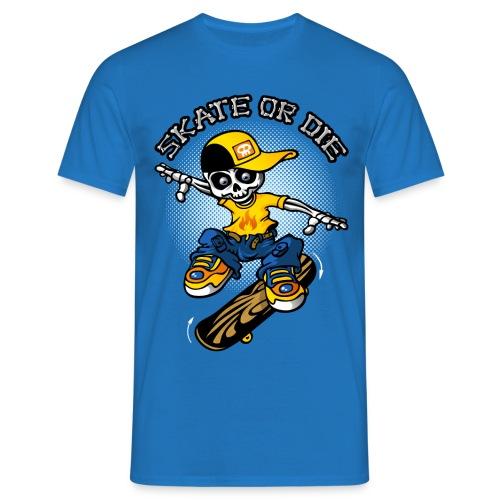 Skeleton and skateboard - Männer T-Shirt