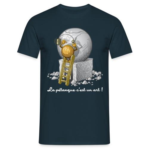 Pétanque is art - Männer T-Shirt
