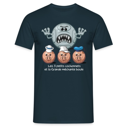 Les 3 petits cochonnets - Männer T-Shirt