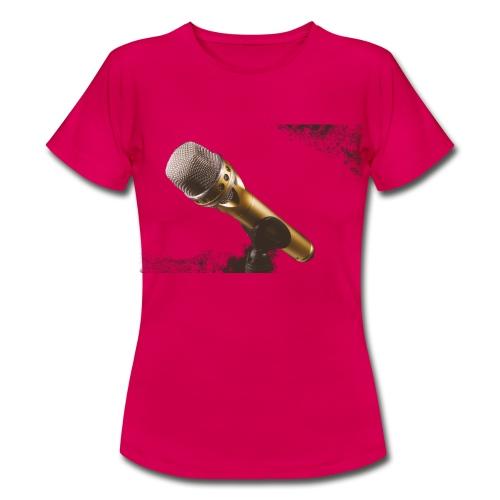 Mikrofon Aufdruck T-Shirts - Frauen T-Shirt