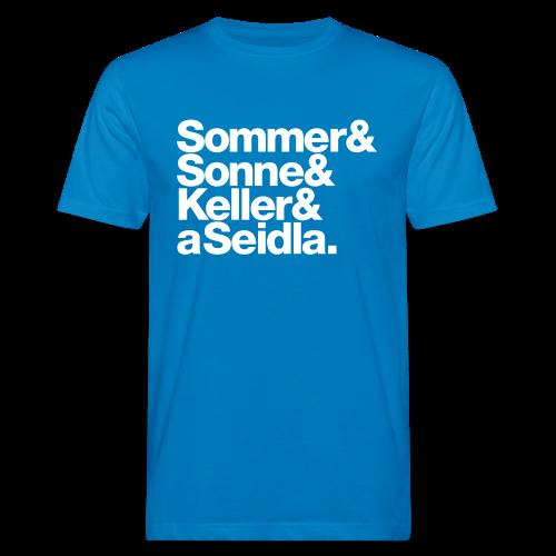 Sommer, Sonne, Keller und a Seidla - Herren BIO T-Shirt - 100% Baumwolle - #KLEINSTADT - Männer Bio-T-Shirt