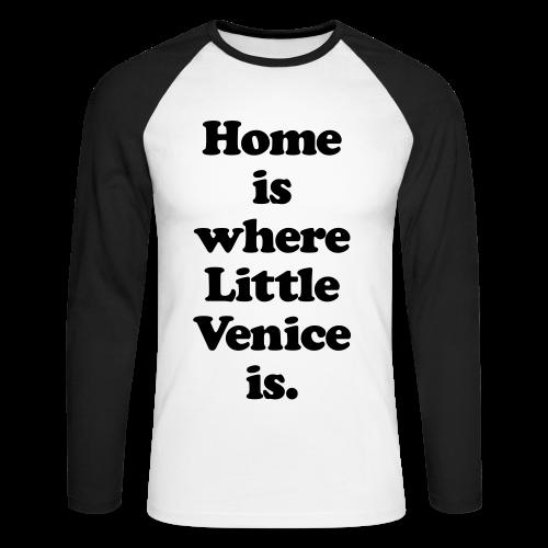 Little Venice - Herren Baseball Langarmshirt - 100% Baumwolle - #KLEINSTADT - Männer Baseballshirt langarm