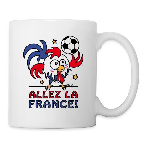 Mug Coq Gaulois Foot Allez La France - Mug blanc