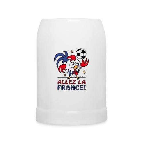 Chope à bière, Coq Gaulois Foot Allez La France - Chope en céramique