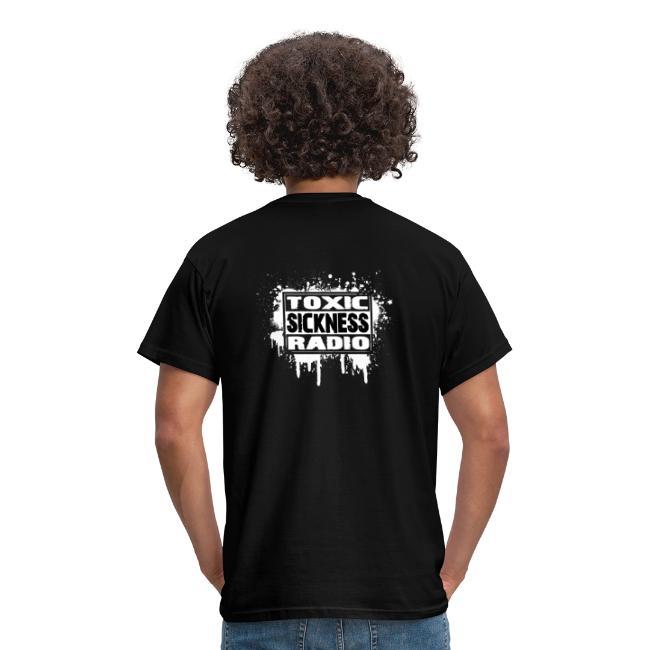 Play It Fucking Loud T-Shirt With Toxic Sickness Radio Logo On Rear