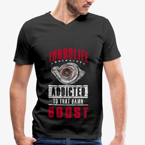 TurboLife - Männer Bio-T-Shirt mit V-Ausschnitt von Stanley & Stella