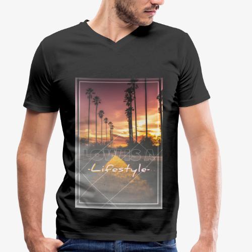 Low is a Lifestyle - Männer Bio-T-Shirt mit V-Ausschnitt von Stanley & Stella