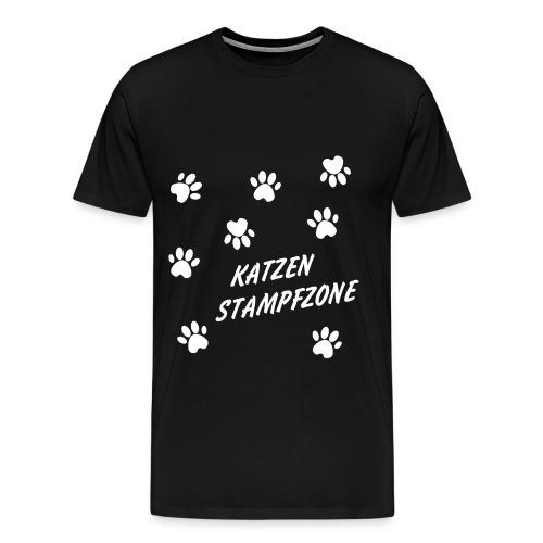 Katzenstampfzone - Männer Premium T-Shirt