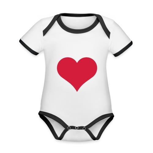 Boddy mit Herz - Baby Bio-Kurzarm-Kontrastbody