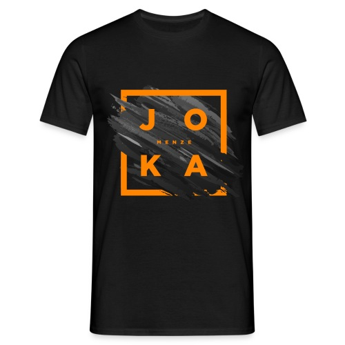 Joka Big Print Basic shirt Black - Männer T-Shirt